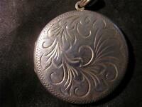 Lovely Vintage Solid Silver Engraved Locket, Birm,1975