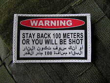 SNAKE PATCH - WARNING STAY BACK 100 METERS - Afghanistan IRAK US ARMY SNIPER