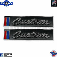 "67-68 Chevrolet C/K Pick Up Pickup Truck "" Custom "" Door Panel Emblem USA Pair"