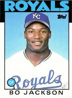 1986 Topps Bo Jackson Rookie Card #50T Kansas City Royals