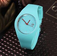 Montre CMK Quartz Sport Bracelet Silicone Femme Homme Enfant Bleu Ciel