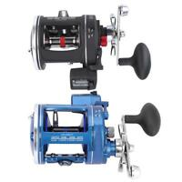 12BBTrolling Reel Counter Saltwater Sea Boat Fishing Conventional Drum+Line❤T