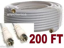 200 FT RG6 SATELLITE COAXIAL CABLE TV HD ANTENNA DIRECTV DISH NETWORK WARNER