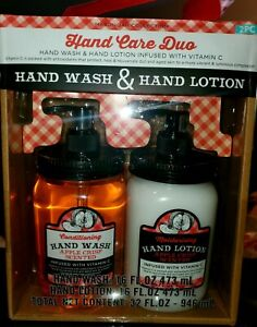 Hand Wash And Lotion Set Apple Crisp Scent mason jar