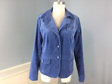 Talbots L 12 Blue Velvet Blazer Cotton Blend Excellent Career Casual