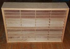 Vintage NAPA VALLEY Compact Disc WOOD Storage Center DISPLAY Rack - Holds 96 CDs