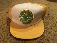 Carlsberg Beer Vintage Snapback  hat mesh back truckers cap Yellow