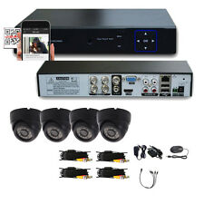 4PCS 960H HDMI 4CH DVR 1300TVL CCTV Home Security Indoor Camera System Video US