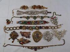 Vtg High End Rhinestone Jewelry Repair Lot -Repurpose-Prong Set-Open Back-14 pcs