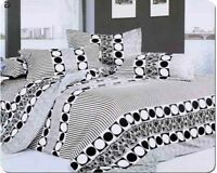 Cotton Duvet Cover Set Quilt Bedding Set With 2 Pillow Cases and Fitted Sheet