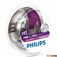 PHILIPS H1 VisionPlus car headlight bulb 12V 55W P14,5s 12258VPS2 Twin