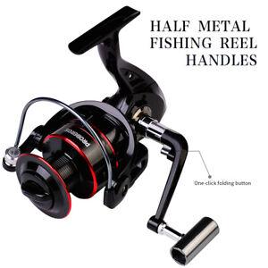 5.2:1 Metal Spinning Reels Fishing Reel Sea Rock Right/Left Hand Fishing Wheel