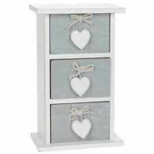 Quality Provence Grey Shabby Chic 3 Drawer Mini Chest Home Decor and Boxed