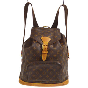 LOUIS VUITTON MONTSOURIS GM BACKPACK PURSE MONOGRAM M51135 ih 60616