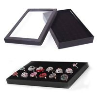 36 Slots Organizer Case Box Holder Storage Glass Jewelry Earring Ring Display