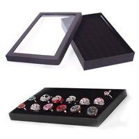 36 Slots Organizer Case Box Holder Storage Glass Jewelry Earring Ring Display