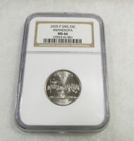2005-P SMS 25C NGC MS66 Minnesota State Quarter SMS NGC Certified #1955310-081