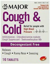 Major COUGH & COLD HBP ( for HIGH BLOOD PRESSURE PATIENTS ) 16 tabs