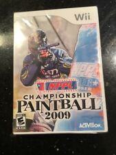 NPPL Championship Paintball 2009 Nintendo Wii Brand New Factory Sealed