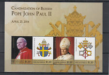 Micronesia 2014 MNH Canonization Blessed Pope John Paul II 4v M/S Popes