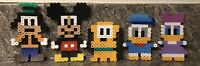Lot of 5 Walt Disney Perler Bead Art Craft Figures Characters Mickey Mouse
