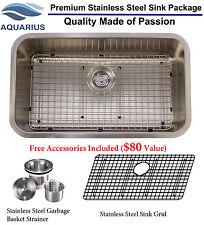 Aquarius 16 Gauge Single Undermount Stainless Steel Kitchen Sink Grid Strainer