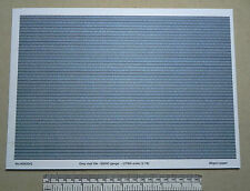 OO/HO gauge (1:76) scale) grey roof tile paper - A4 sheet