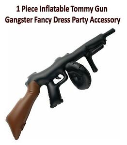 1 Piece Inflatable Tommy Gun Gangster Fancy Dress Party Costume Accessory Black