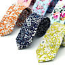 New Vintage Cotton Floral Print Men's Tie Wedding Business Skinny Necktie Ties*
