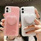 For iPhone 12 11 Pro Max Case Cover With Heart Socket Stand