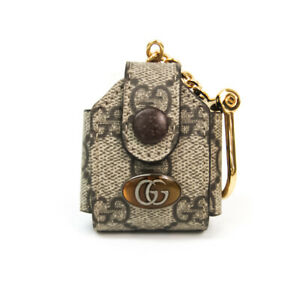 Gucci PVC Others Beige,Dark Brown Offidia GG Supreme Airpods Case 59672 BF535437