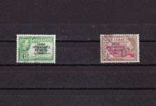 GOLD COAST  Côte d'Or 1957 Ghana Independence 2 timbres