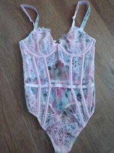New Women/'s Victoria/'s Secret Jingle Bells Bodysuit Teddy Size M