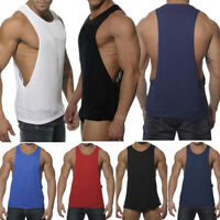 Mens Gym Sleeveless Vest Bodybuilding Muscle Shirt Stringer Workout Tank Top Tee