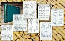 C1850 chaises meubles-Catalogue catalogue of Chairs Furniture album QUETIN 114 plates