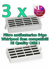 3 filtri filtro antibatterico frigo Whirlpool Ikea W1031152 compatible H quality