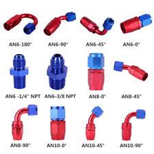AN4 AN6 AN8 AN10 Oil Fuel Gas Line Hose End Swivel Fitting Adapter 0° 45°90°180°
