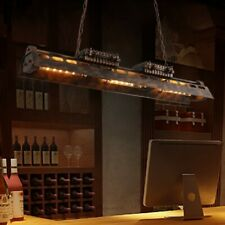 Industrial Loft Linear Pendant Light Dining Pool Light Fixture Hanging Lamp
