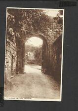 Vintage Sepia  Postcard General View The Gateway Castle  Shrewsbury-posted 1944