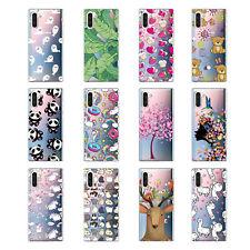 Para Samsung M30 M20 A70 A60 A50 A30 S10 Note 10 delgada transparente suave TPU funda