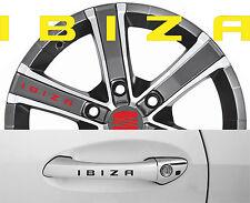 4 x Türgriff- Felgen Aufkleber Seat Ibiza 001