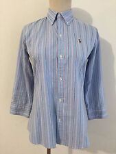 Ralph Lauren Sport Slim Fit Oxford Button Down Shirt Light Blue w/White Size 6