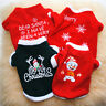 Weihnachten Hund Kleidung Haustier Katzen Wintermantel Sweater Strickpullover