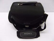 Sony Handycam Camera Multi-Pocket Padded Carry Bag w/ Strap Black, Universal Use