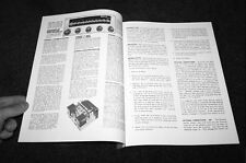 Harmon Kardon D-1000 Festival amplifier owner service manual schematic reprint