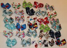 30 Small dog bows in BOY colors Grooming bows Male dog bows Yorkie Poodle USA