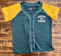Oakland Athletics MLB Women's Jersey Large Campus Lifestyle Genuine Merchandise