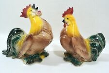 New ListingVintage Mcm Royal Copley Windsor Brown Breasted Rooster Hen Chicken Figurines