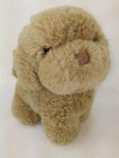 Vintage R Dakin Plush Dog Brown Puppy Toy Poodle Small Dog  1985