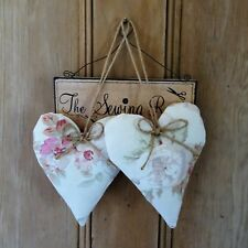 Laura Ashley Angelica fabric vintage style heart door hanger gift shabby chic